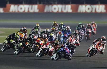 Pembalap MotoGP di Sirkuit Losail Qatar. - Getty Images
